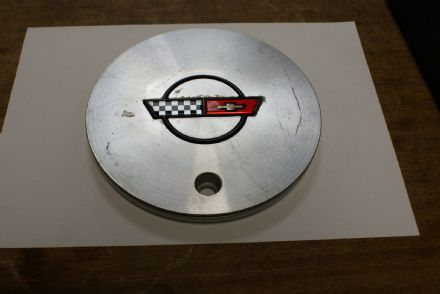 "1988-1989 C4 Corvette,Wheel Centre Cap for 17"" Wheels,GM 10055340,Used Good"